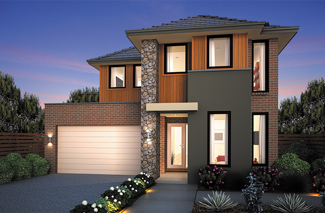 Aussie dragon real estate brand new double storey house for Double story home designs melbourne